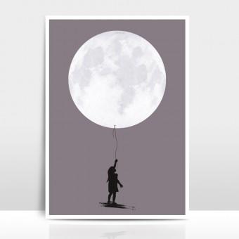 """Amy & Kurt Berlin A4 Artprint """"Moonballoon"""""""