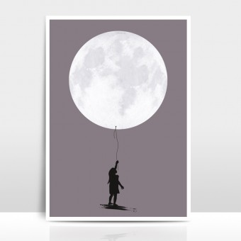 "Amy & Kurt Berlin A3 Artprint ""Moonballoon"""