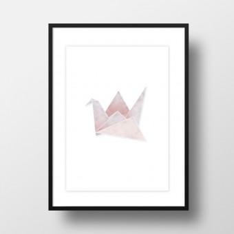 """Amy & Kurt Berlin A4 Artprint """"Origami Kranich"""""""