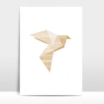 "Amy & Kurt Berlin A3 Artprint ""Origami Taube"""
