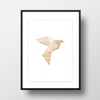 "Amy & Kurt Berlin A4 Artprint ""Origami Taube"""