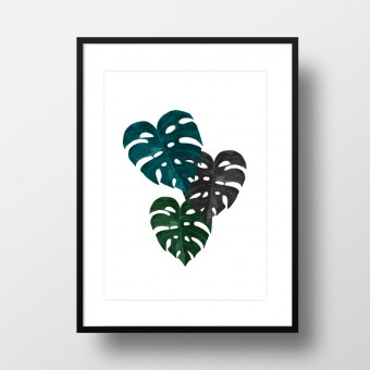 "Amy & Kurt Berlin A4 Artprint ""Monstera"""