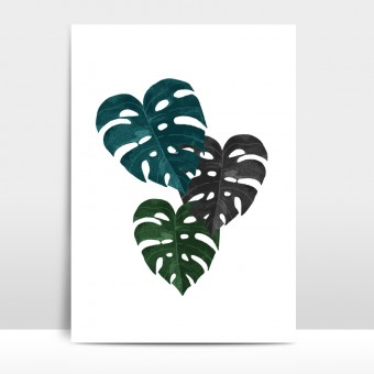 "Amy & Kurt Berlin A3 Artprint ""Monstera"""