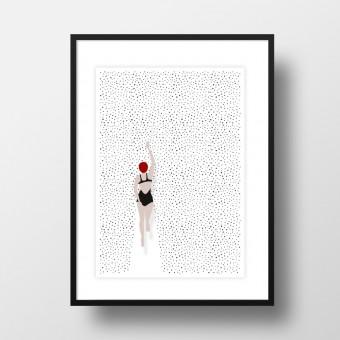 """Amy & Kurt Berlin A4 Artprint """"Punktschwimmer"""""""
