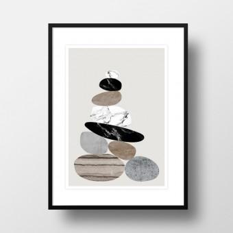 """Amy & Kurt Berlin A4 Artprint """"Steinhaufen"""""""