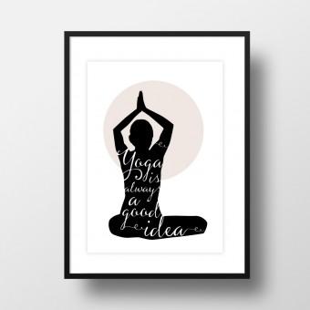 """Amy & Kurt Berlin A4 Artprint """"Yoga"""""""