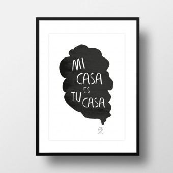 "Amy & Kurt Berlin A4 Artprint ""Mi casa"""