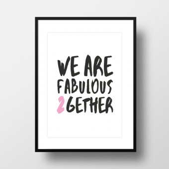 """Amy & Kurt Berlin A4 Artprint """"Fabulous together"""""""