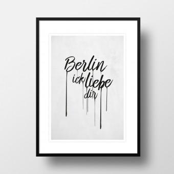 """Amy & Kurt Berlin A4 Artprint """"Berlin ick liebe dir"""""""
