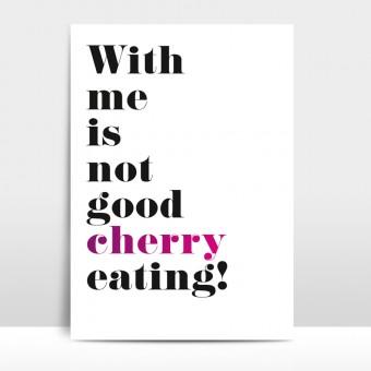 """Amy & Kurt Berlin A4 Artprint """"Cherry"""""""