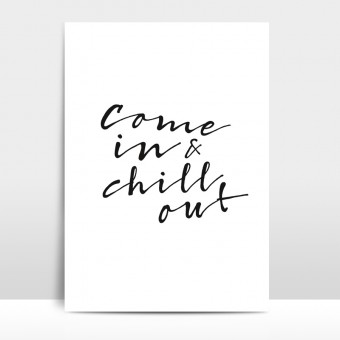 "Amy & Kurt Berlin A3 Artprint ""Chill out"""