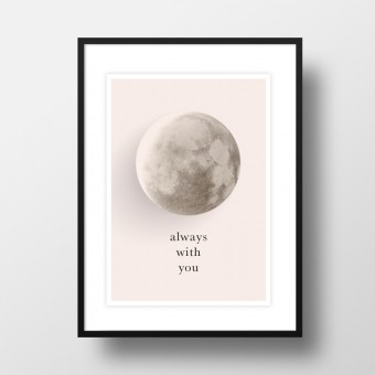"Amy & Kurt Berlin A4 Artprint ""Mond - always with you"""