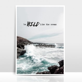 """Amy & Kurt Berlin A3 Artprint """"Wild like the ocean"""""""