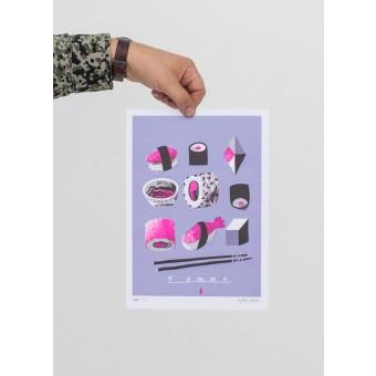 Martin Krusche – Stencil Artprint »Yummy« DIN A4