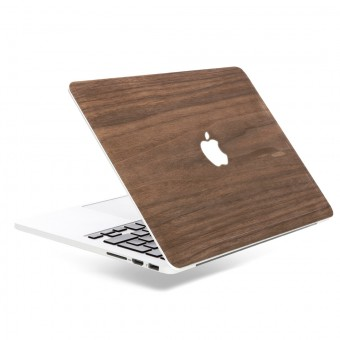 Woodcessories - EcoSkin - Design Apple Macbook Cover, Skin, Schutz für das Macbook mit Apfellogo aus FSC zert. Holz (Macbook 13 Air & Pro, Walnuss)