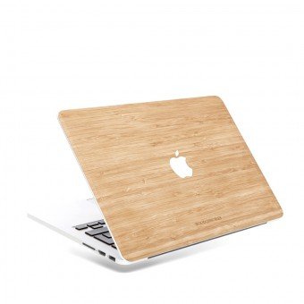 Woodcessories - EcoSkin - Design Apple Macbook Cover, Skin, Schutz für das Macbook mit Apfellogo aus FSC zert. Holz (Macbook 13 Air & Pro, Bambus)