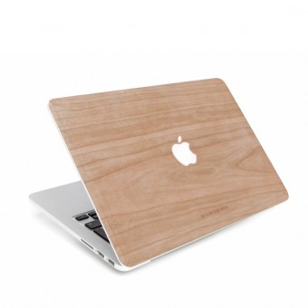 Woodcessories - EcoSkin - Design Apple Macbook Cover, Skin, Schutz für das Macbook mit Apfellogo aus FSC zert. Holz (Macbook 13 Pro Retina, Kirsche)