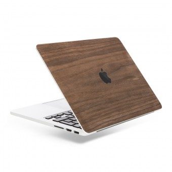 Woodcessories - EcoSkin - Design Macbook Cover, Skin, Schutz für das Macbook mit Apfellogo aus FSC zert. Holz (Macbook 13 Pro (Touchbar), Walnuss)