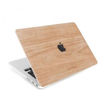 Woodcessories - EcoSkin - Design Macbook Cover, Skin, Schutz für das Macbook mit Apfellogo aus FSC zert. Holz (Macbook 13 Pro (Touchbar), Kirsche)