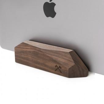 Woodcessories - EcoRest MacBook - Premium Design Ständer, Halterung, Stand, Rest für das Apple MacBook aus massivem FSC-zertifiziertem Holz (Walnuss)