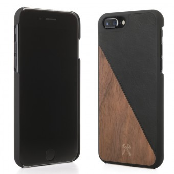 Woodcessories - EcoCase Split - Premium Design Hülle, Case, Cover für das iPhone aus FSC zert. Holz (iPhone 7 Plus/ 8 Plus, Walnuss/Schwarz, Ahorn/Blau, Kirsch/Grün)