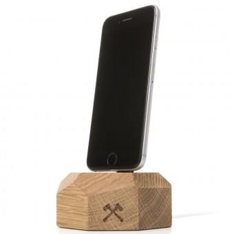 Woodcessories - EcoDock iPhone - Premium Design Ladestation, Dock für alle Apple Lightning iPhones aus massivem, FSC-zertifiziertem Holz (Eiche)