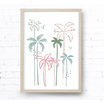 Kruth Design POSTER / SPRING BEACH
