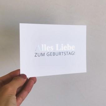 Designst - Karte Alles Liebe zum Geburtstag