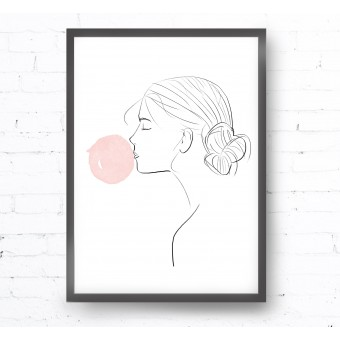 Kruth Design POSTER / BUBBLEGUM GIRL