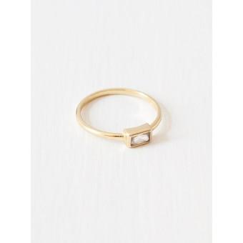 Oh Bracelet Berlin – Baguette Ring aus 925 Sterlingsilber vergoldet