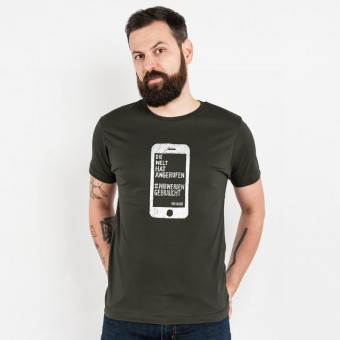 Lukas Adolphi - Die Welt hat angerufen - Mens Organic Cotton T-Shirt