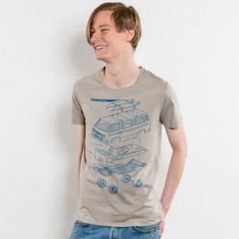 Julius Muschalek - Vanlife - Mens Lightweight Organic Cotton T‑Shirt