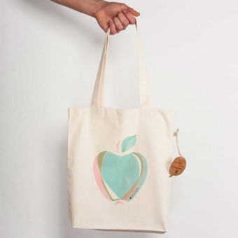 Keregan Apfeltasche Recycled Natural Shopping Bag
