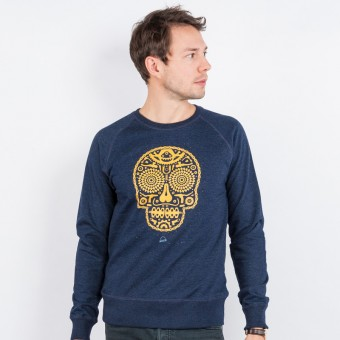 Douze – Bike Skull - Mens Recycled Organic Sweatshirt