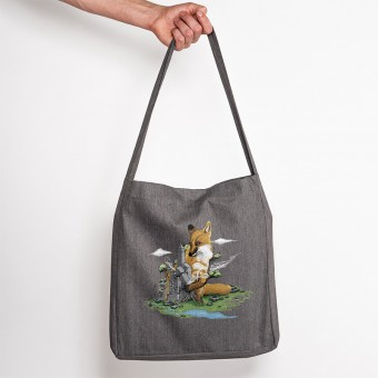 Robert Richter – Clean the World Fox - Recycled Organic Tote Bag