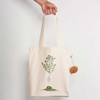 Robert Richter - Green House - Recycled Natural Shopping Bag