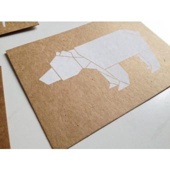 moij design Postkarte mit Origamimotiv