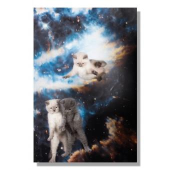 Kunstprint Poster Katzmonauten Babies Katze im Weltall 30x40cm cats in space