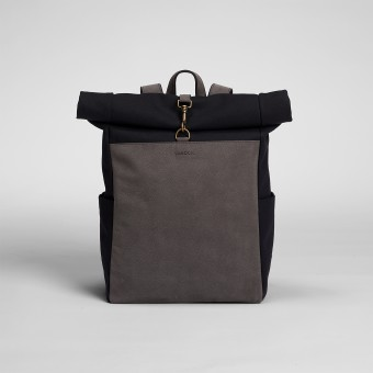 VANOOK – Roll-Top Backpack Black