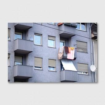 """ZEITLOOPS """"Balkons mit Wäsche"""", Posterprint 40x60cm"""