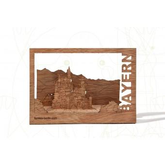 formes Berlin Bayern-Karten - 6 Postkarten aus Holz