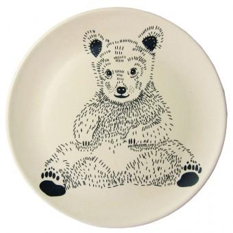 nuukk Bambus Teller sitzender Bär