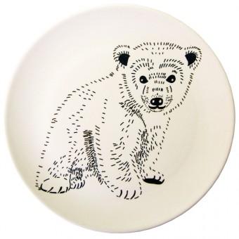 nuukk Bambus Teller stehender Bär
