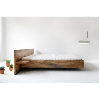 FraaiBerlin – Altholz Eichen Bett Chadron mit 2 Nachtbrettchen
