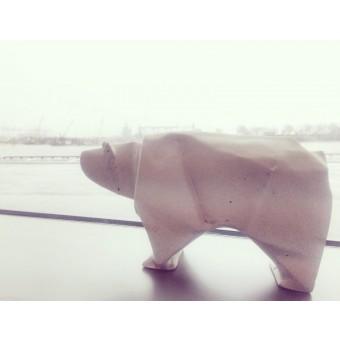 moij design Origami Eisbär aus Beton