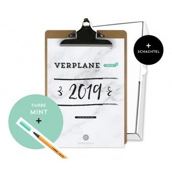 Design Verlag / Handlettering Jahresplaner Kalender 2019 Klemmbrett / Mint