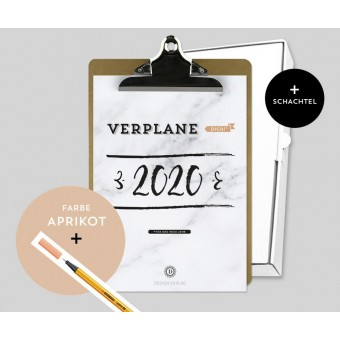Design Verlag – Jahresplaner 2020 mit Klemmbrett | Farbe: Aprikot