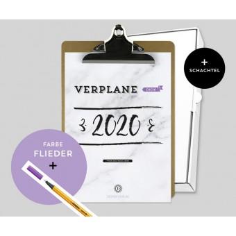 Design Verlag – Jahresplaner 2020 mit Klemmbrett | Farbe: Flieder