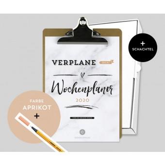 Design Verlag – Wochenplaner 2020 mit Klemmbrett | Farbe: Aprikot