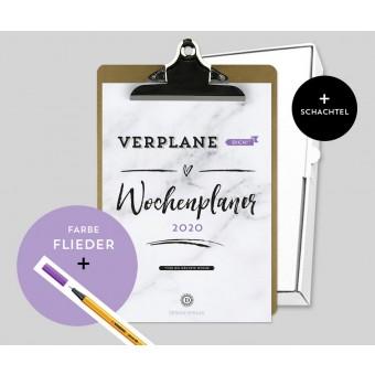 Design Verlag – Wochenplaner 2020 mit Klemmbrett | Farbe: Flieder